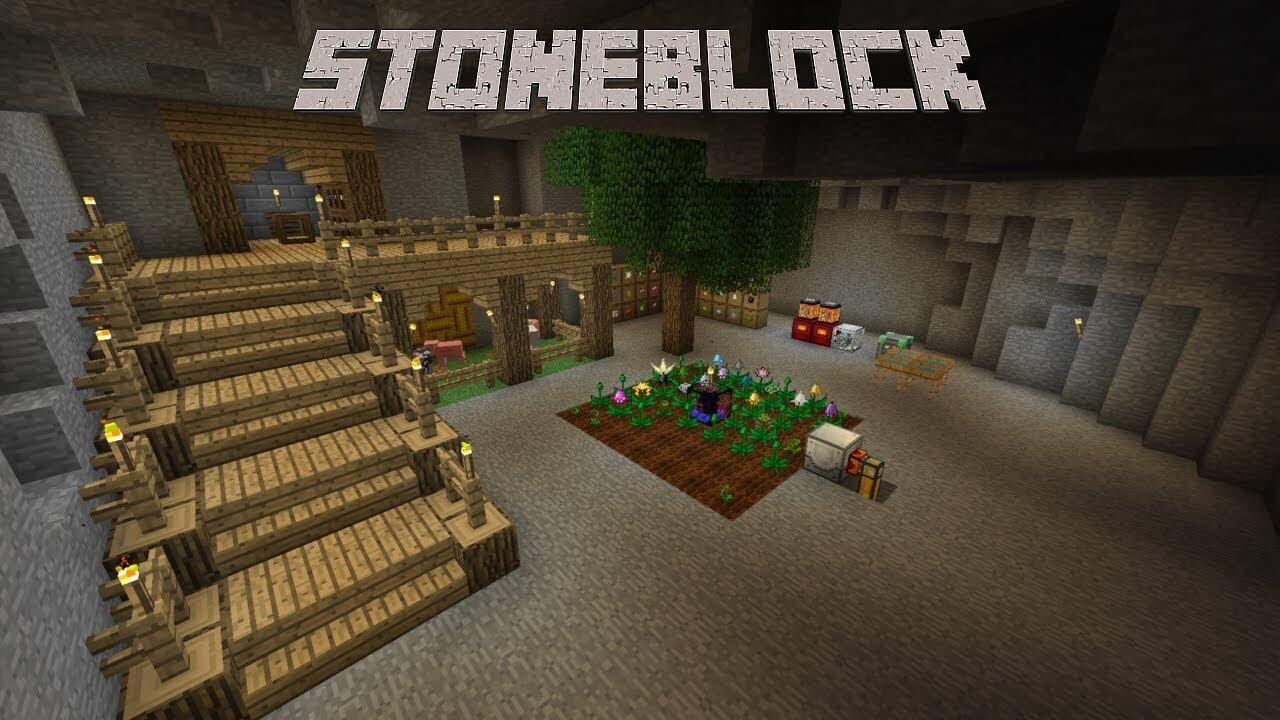 StoneBlock — сборка с выживанием внутри камня [1 12 2